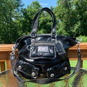 Coach Poppy Black Patent Leather Bag